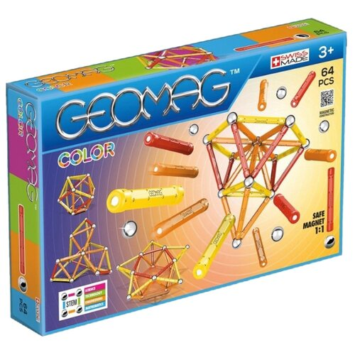 Купить Магнитный конструктор GEOMAG COLOR 262-64, Конструкторы