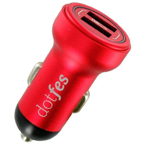 Автомобильная зарядка Dotfes B05 + Lightning красный