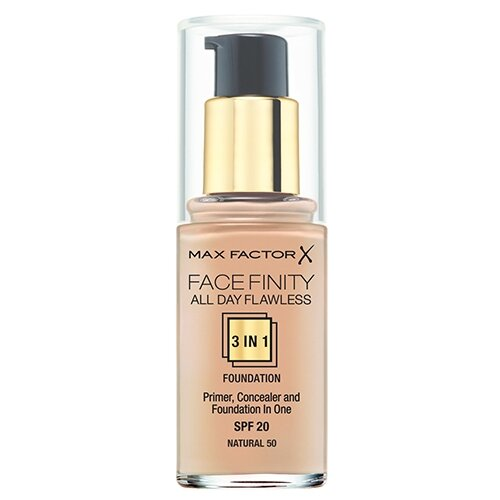 Max Factor Тональный крем Facefinity All Day Flawless 3-in-1, 30 мл, оттенок: 50 Natural недорого