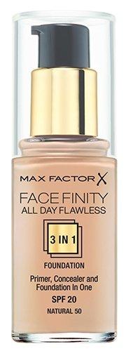 Купить Max Factor Тональный крем Facefinity All Day Flawless 3-in-1, 30 мл, оттенок: 50 Natural по низкой цене с доставкой из Яндекс.Маркета