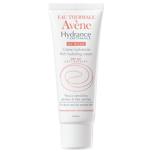 AVENE Hydrance Optimale UV20 Riche Увлажняющий крем для сухой кожи лица, 40 мл avene для жирной кожи