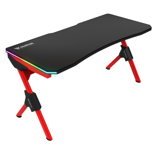 Игровой стол GAMDIAS Dedalus M1, 150х66 см, цвет: черный/красный