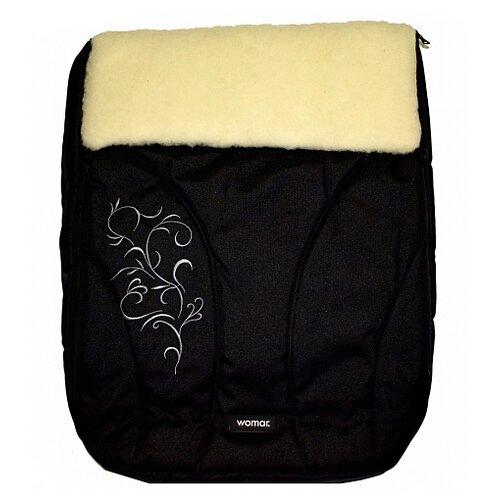 Купить Конверт-мешок Womar Snowflake в коляску 95 см 12 черный, Конверты и спальные мешки