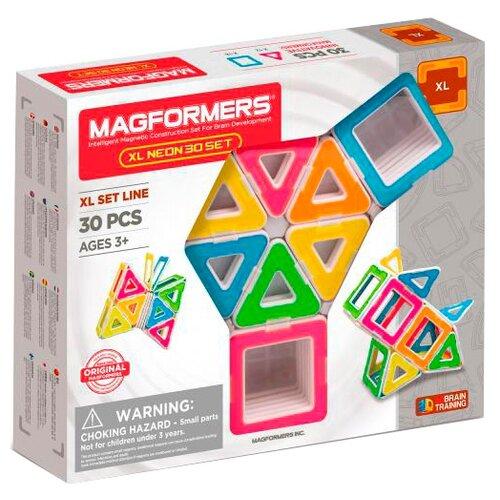 Магнитный конструктор Magformers XL Neon 706006-30 magformers магнитный конструктор ice world 30 деталей magformers