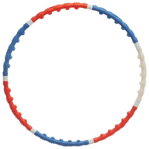 Массажный обруч BRADEX Премиум SF0001 100 см белый/голубой/оранжевый обруч массажный разборный z sports диаметр 100 см