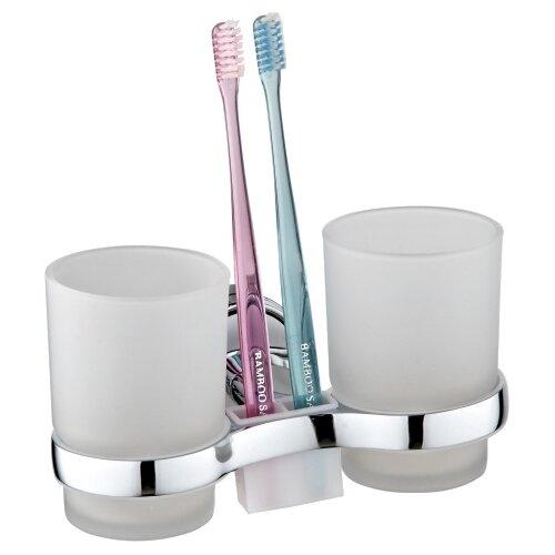 Стакан для зубных щеток Ростовская Мануфактура Сантехники A6021 белый/хром