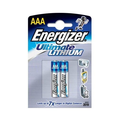 Фото - Батарейка Energizer Ultimate Lithium AAA, 2 шт. батарейка energizer ultimate lithium aa 4 шт