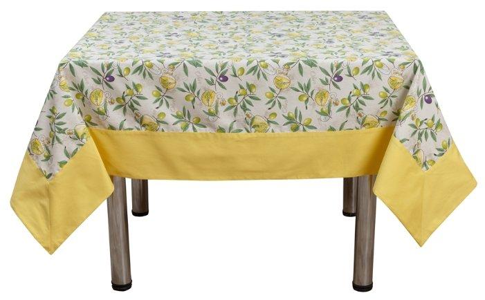 Скатерть Fresca Design Olives с оборкой (slk79) 150х150 см желтый