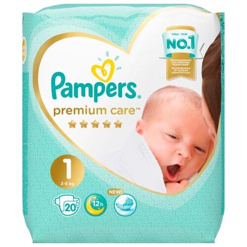 Купить Pampers подгузники Premium Care 1 (2-5 кг) 20 шт., Подгузники