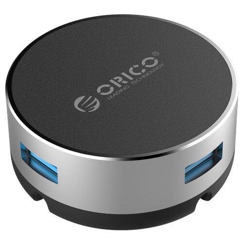 USB-концентратор ORICO BNS1, разъемов: 3, серебристый