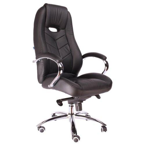 Фото - Компьютерное кресло Everprof Drift M для руководителя, обивка: искусственная кожа, цвет: черный компьютерное кресло everprof drift m для руководителя обивка натуральная кожа цвет коричневый