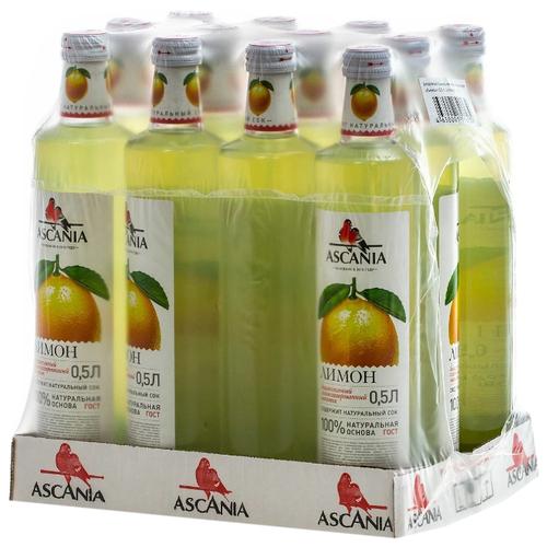 Газированный напиток Ascania Лимон, 0.5 л, 12 шт.
