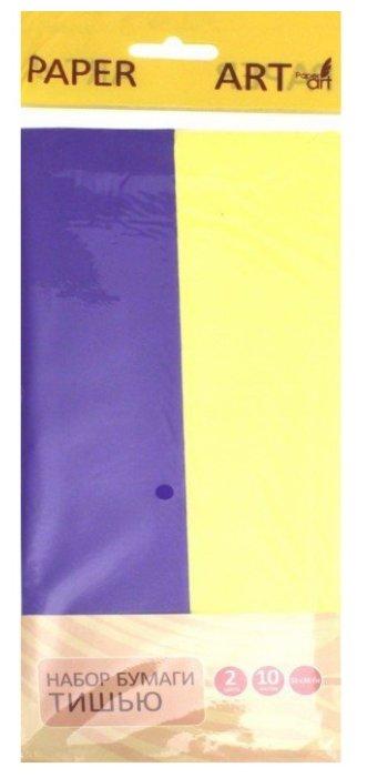 Цветная бумага тишью Paper Art Канц-Эксмо, 50х66 см, 10 л., 2 цв.