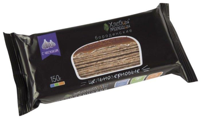 Хлебцы цельнозерновые бородинские с чесноком Хлебцы-Молодцы, 150 г