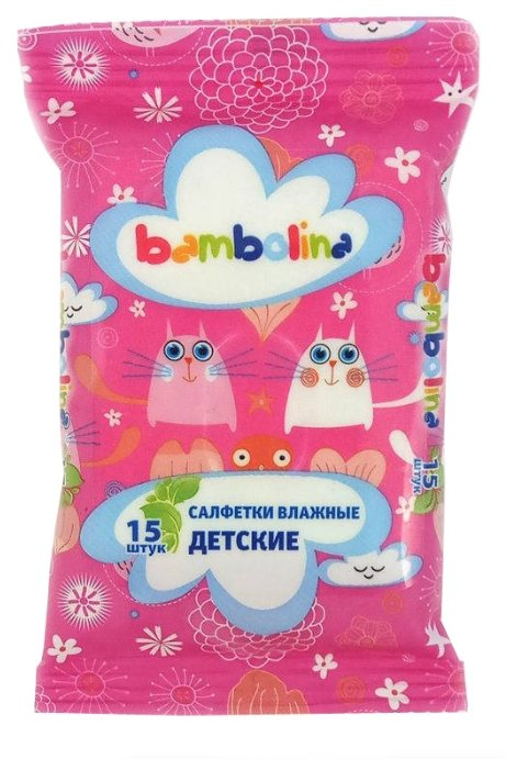 Влажные салфетки Bambolina детские