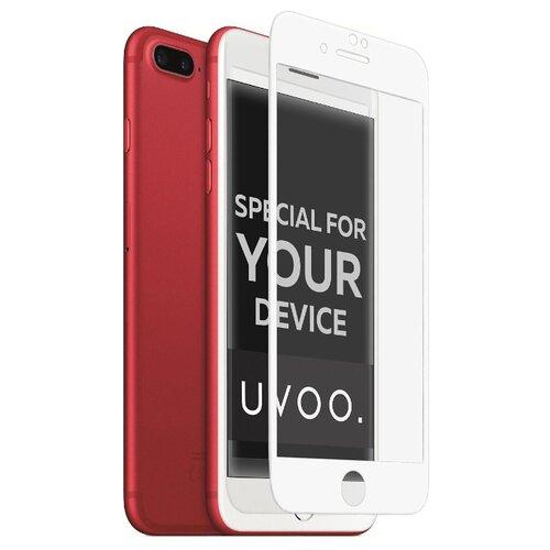 Защитное стекло UVOO Full Screen для Apple iPhone 7 Plus/8 Plus белыйЗащитные пленки и стекла<br>