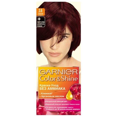 GARNIER Color & Shine краска-уход для волос, 3.6 черная вишня