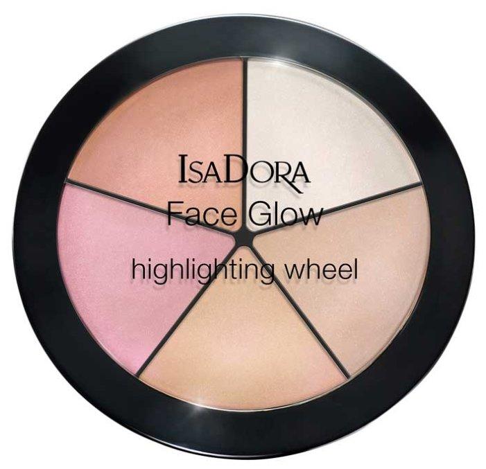 IsaDora Палетка хайлайтеров для лица Face Glow highlighting wheel