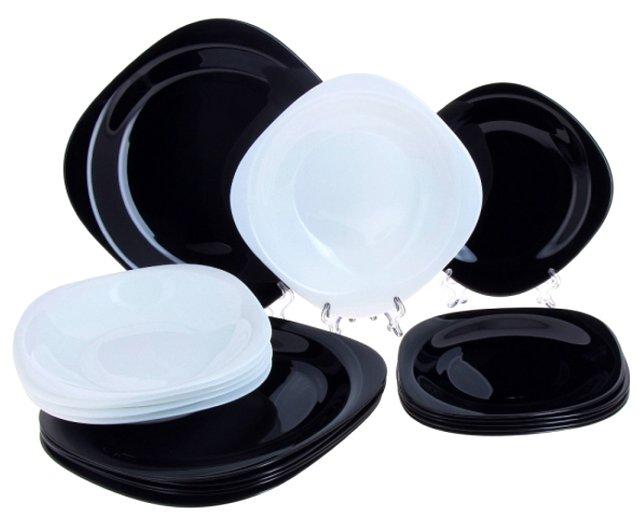 Столовый сервиз Luminarc New Carine Black and White 18 предметов N2955