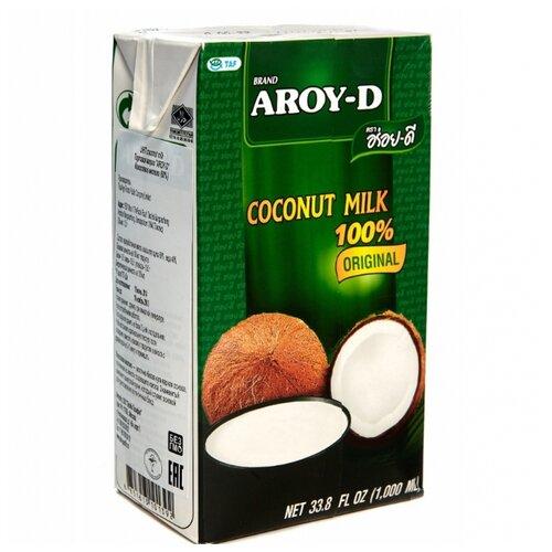 Молоко кокосовое Aroy-D Original 60% 17%, 1 л malee напиток кокосовое молоко 0 33 л