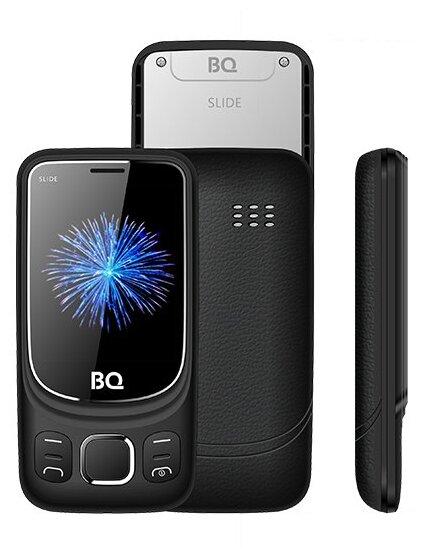 Купить Телефон BQ 2435 Slide черный по низкой цене с доставкой из Яндекс.Маркета (бывший Беру)