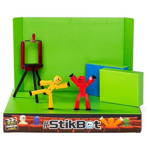 Игровой набор Zing Stikbot Анимационная студия со сценой TST617 zing игрушка zing stikbot мегадино