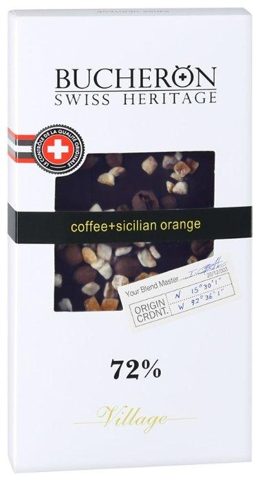 Шоколад Bucheron Village горький с зернами кофе и апельсином