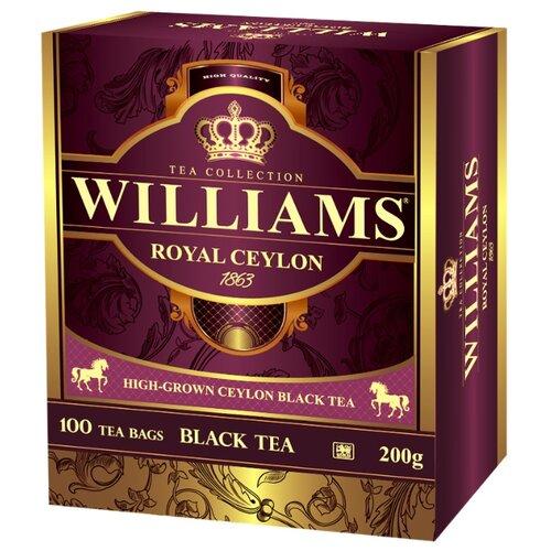 Чай черный Williams Royal ceylon в пакетиках , 100 шт. чай зеленый williams heraldic