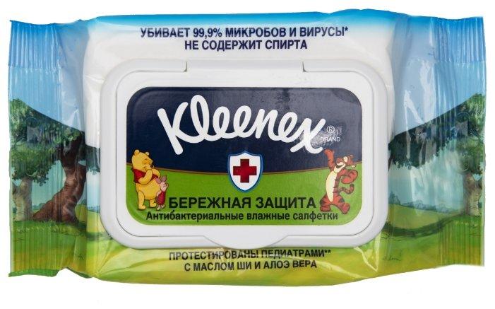Влажные салфетки Kleenex Влажные салфетки Kleenex Бережная Защита Disney антибактериальные