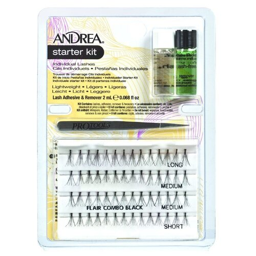 Andrea Набор для наращивания пучков ресниц Perma Lash Starter Kit черныйРесницы и клей<br>