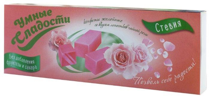 Конфеты желейные Умные сладости без сахара лепестки чайной розы 90 г