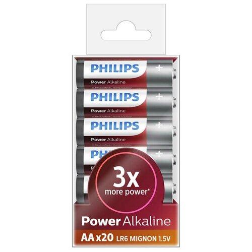 Батарейка Philips Power Alkaline AA 20 шт блистерБатарейки и аккумуляторы<br>