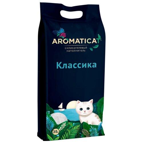 Впитывающий наполнитель AromatiCat Силикагелевый Классика 35 л впитывающий наполнитель glamour cats силикагелевый антибактериальный 3 8 л 1 7 кг