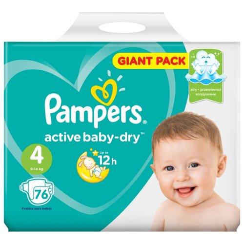 Фото - Pampers подгузники Active Baby-Dry 4 (9-14 кг) 76 шт. подгузники pampers active baby dry 4 8 14 кг 147 шт