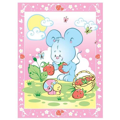 Фото - Одеяло Baby Nice D121511 85х115 см Земляничная поляна, розовый аксессуары для колясок baby nice конверт baby nice с меховой подкладкой розовый