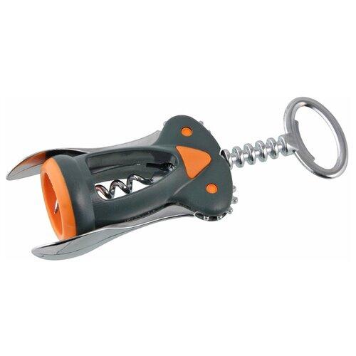 Штопор Fackelmann Soft двухрычажный 25239 черно-оранжевый