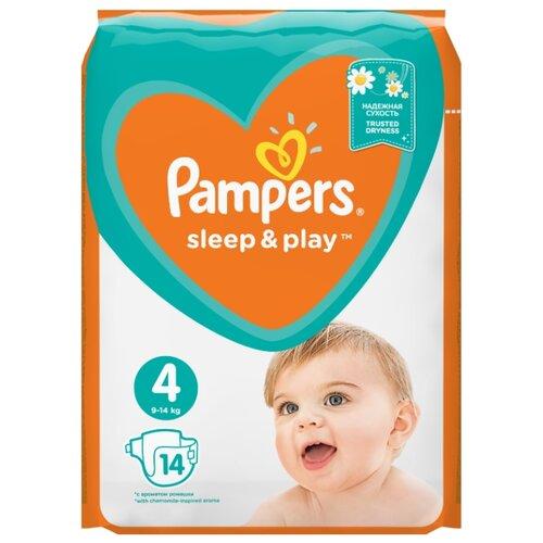Купить Pampers подгузники Sleep&Play 4 (9-14 кг) 14 шт., Подгузники