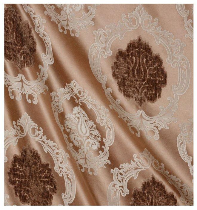 Портьерная штора ARCO DORO жаккард/флок, коричневый, 200х260