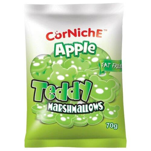 Маршмеллоу CorNiche Teddy яблоко, 70 г зефир и пастила corniche маршмеллоу большие mega marshmallow бело розовые 300 г