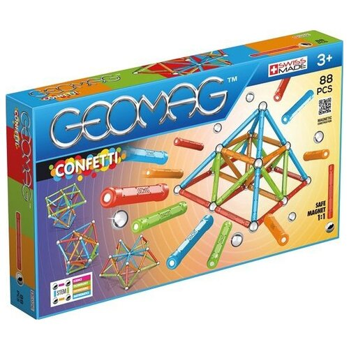 Купить Магнитный конструктор GEOMAG Confetti 353-88, Конструкторы