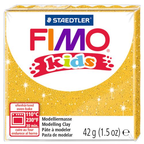 Полимерная глина FIMO kids 42 г блестящий золотой (8030-112)Глина<br>