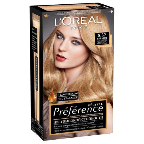 LOreal Paris Recital Preference стойкая краска для волос, 8.32, БерлинКраска<br>