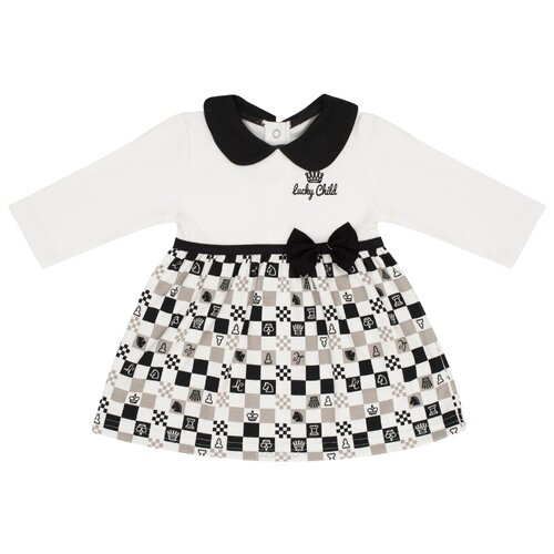 Платье lucky child размер 22, белый/черныйПлатья и юбки<br>