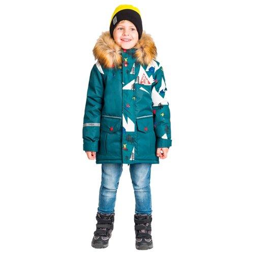 Купить Куртка BOOM! размер 104-56-51, зеленый, Куртки и пуховики