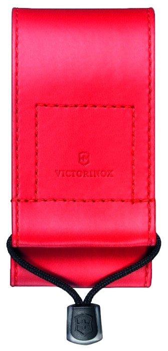 Чехол для складных ножей Victorinox 4.0481.3, рукоять 91-93 мм 5-8 уровней, искусственная кожа, цвет черный, крепление на пояс, Victorinox (Викторинокс)