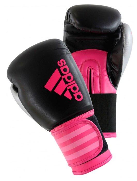 Боксерские перчатки adidas Hybrid 100 Dynamic Fit черный/розовый 8 oz