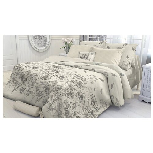 Постельное белье 1.5-спальное Verossa Gravure 70х70 см, перкаль бежевый цена 2017
