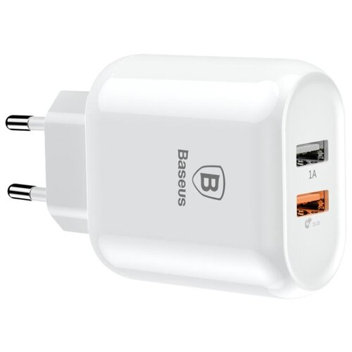 Сетевая зарядка Baseus Bojure Series Dual-USB quick charge белый