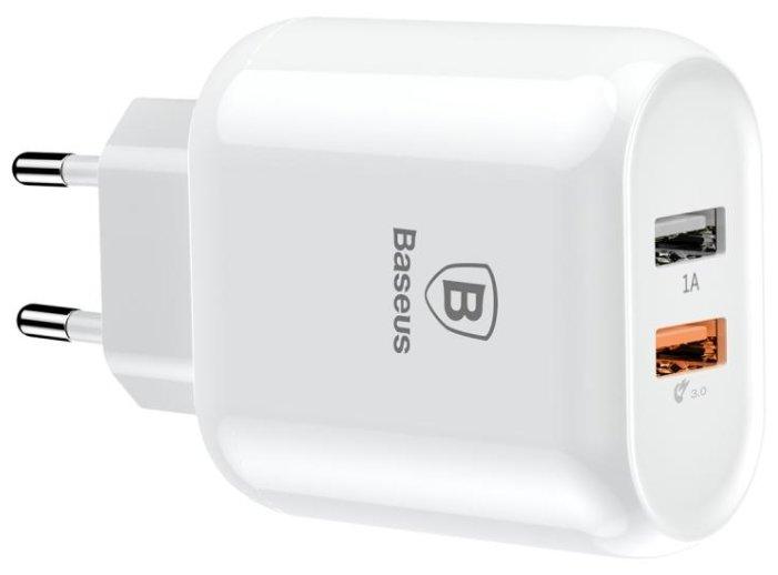 Сетевой блок питания Baseus Bojure Series Dual-USB quick charge 3.0 charger CCALL-AG02 Белый (White)