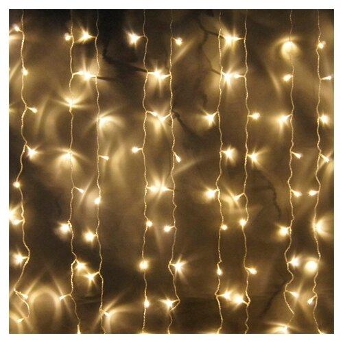 Гирлянда Sh Lights Занавес 150 х 150 см LDCL368, 368 ламп, теплые белые диоды/прозрачный провод
